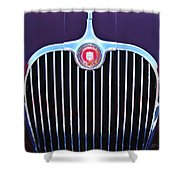 1960 Jaguar Xk150 Roadster 2 Shower Curtain