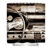 1960 Maserati 3500 Gt Spyder Steering Wheel Emblem -0407s Shower Curtain