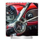 1960 Rambler Dashboard Shower Curtain