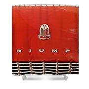1960 Triumph Tr3 Emblem Shower Curtain