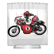 1960s Ducati Desmo Shower Curtain