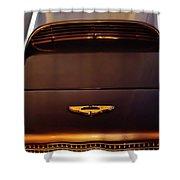 1961 Aston Martin Db4 Coupe Emblem Shower Curtain