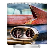 1961 Cadillac Tail Light And Fin Shower Curtain