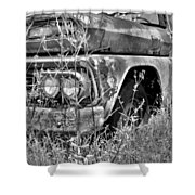 1961 Chevrolet Apache 10 Black And White 4 Shower Curtain