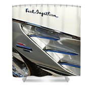 1961 Chevrolet Corvette Abstract Shower Curtain