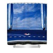 1961 Chevrolet Corvette Grille Shower Curtain