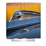 1961 Ford Starliner Hood Ornament Shower Curtain