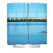 1961 Pontiac Bonneville Emblem Shower Curtain