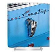 1961 Rambler Cross Country Emblem Shower Curtain