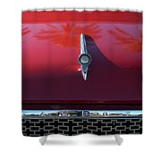 1961 Rambler Hood Ornament 2 Shower Curtain