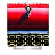 1961 Rambler Hood Ornament Shower Curtain