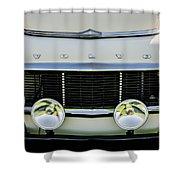 1961 Volvo Pv544 Grille Emblem -1511c Shower Curtain
