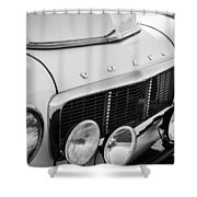 1961 Volvo Pv544 Grille Emblem -1520bw Shower Curtain