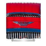 1962 Austin Healey 3000 Mk II Hood Emblem -0324c Shower Curtain