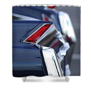 1962 Cadillac Deville Taillights Shower Curtain
