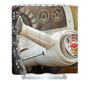 1962 Chevy Stering Wheel Shower Curtain