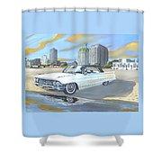 1962 Classic Cadillac Shower Curtain
