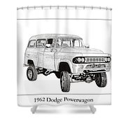 1962 Dodge Powerwagon Shower Curtain