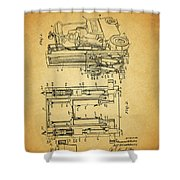 1962 Forklift Patent Shower Curtain