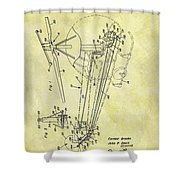 1962 Helicopter Patent Shower Curtain