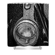 1962 Vw Beetle In The Rain Shower Curtain