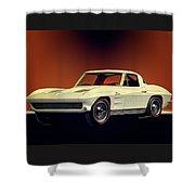 1963 Corvette 2nd Generation Shower Curtain