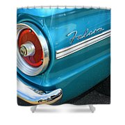 1963 Ford Falcon Tail Light And Logo Shower Curtain