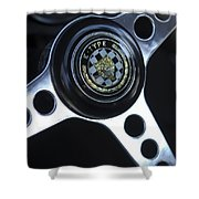 1963 Jaguar Xke Roadster Steering Wheel Shower Curtain