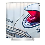 1963 Mercury Meteor Taillight Emblem Shower Curtain