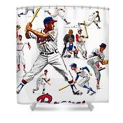 1963 Milwaukee Braves Yearbook Shower Curtain