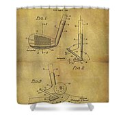 1963 Sand Wedge Patent Shower Curtain