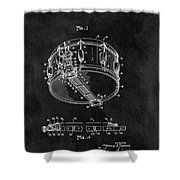 1963 Snare Drum Patent Shower Curtain