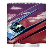 1963 Studebaker Avanti Hood Ornament 4 Shower Curtain