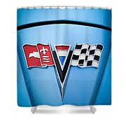 1964 Chevrolet Corvette Sting Ray Gm Styling Coupe Hood Emblem -0126c45 Shower Curtain