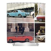 1964 Ford Mustang-10-11ab Shower Curtain