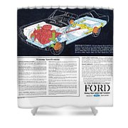 1964 Ford Mustang-12 Shower Curtain