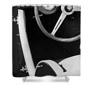 1964 Morgan 44 Black And White Shower Curtain