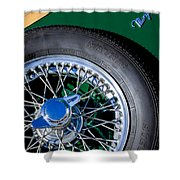 1964 Morgan 44 Spare Tire Shower Curtain