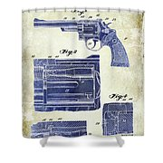 1964 Smith And Wesson Gun Patent Two Tone Shower Curtain