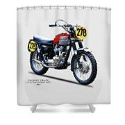 1964 Steve Mcqueen Isdt Shower Curtain by Mark Rogan