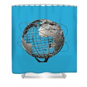 1964 World's Fair Unisphere Shower Curtain