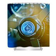 1965 Aston Martin Db5 Coupe Rhd Steering Wheel Shower Curtain