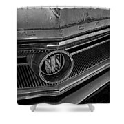 1965 Buick Hood Ornament B And W Shower Curtain