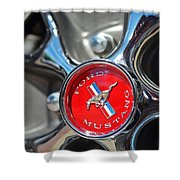 1965 Classic Ford Mustang Rim Color Shower Curtain
