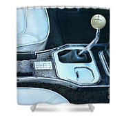1965 Corvette Hurst Shifter Shower Curtain