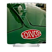 1965 Divco Milk Truck Hood Ornament Shower Curtain