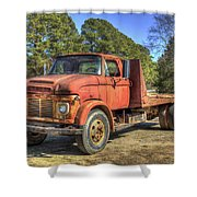1965 Ford F600 Snub Nose Commercial Truck Shower Curtain