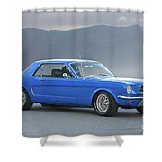 1965 Ford Mustang 'blue Coupe' I Shower Curtain