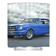 1965 Ford Mustang 'blue Coupe' IIa Shower Curtain