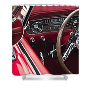 1965 Ford Mustang Fastback Dash Shower Curtain